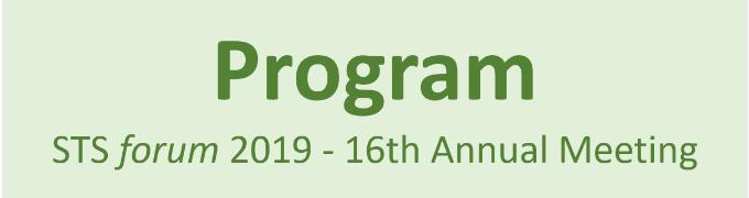STS forum 2019 program